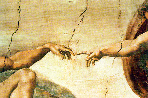 The Creation of Adam, by Michelangelo, Sistine Chapel.